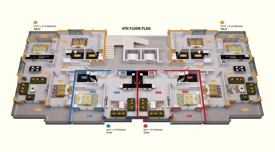 Резиденция Аланья Тауэр - Эксклюзивные апартаменты в центре Аланьи