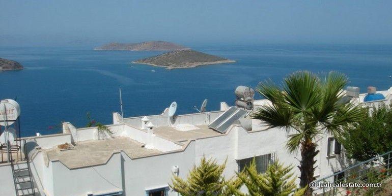 Дуплекс Герис, вторичная продажа - Квартира в Бодруме с видом на море.