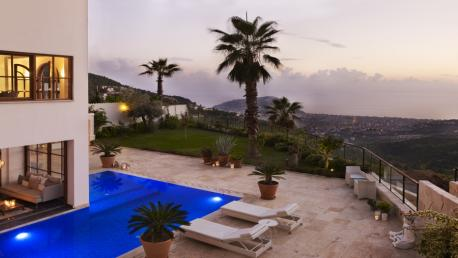 villa for sale in Alanya at Tepe