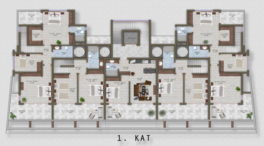 Квартиры на продажу в Каргыджак - Эко Марина, апартаменты в Алании