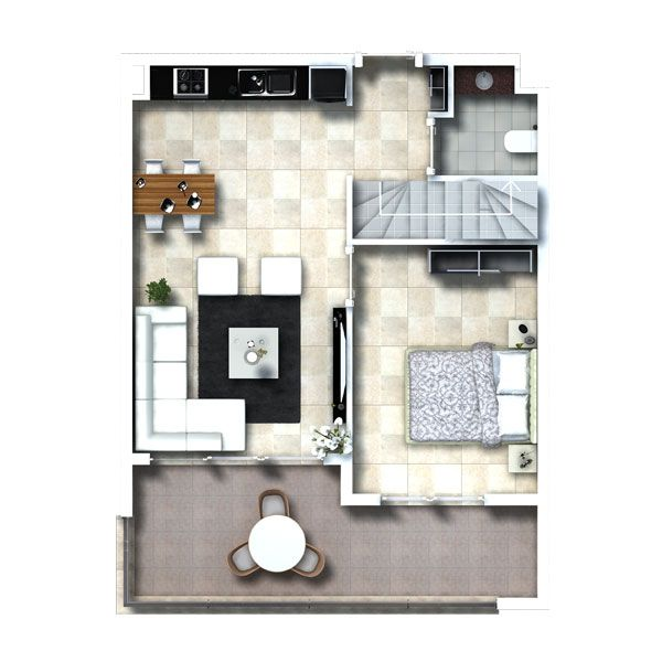 Цветочный сад - Резиденция Цветочный сад, Оба, Аланья