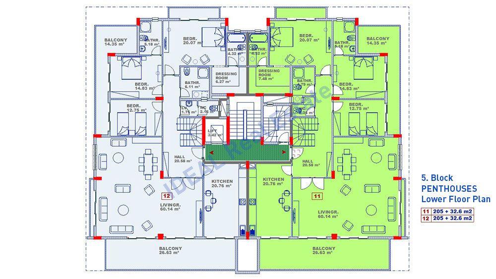 Большой комплекс с концепцией отеля 5