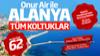 Alanya Gazişa Havaalanına Onur Air tarafından yeni uçuşlar