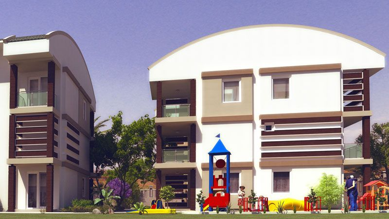 Морской сад - Квартиры с 2 и 3 спальнями, Кемер, Сиде